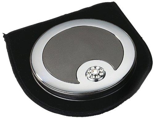 Danielle Compact Mirror with Swarovski Elements Pearl Black/Chrome