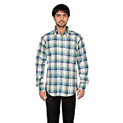 Green Big Checks Casual Shirt