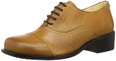 John W. Shoes Pacita V41007-n Damen Schnürhalbschuhe, Braun (havanna cuero), EU 42