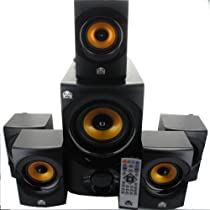 Acoustic Audio AA5170 Home Theater 5.1 Powered Bluetooth Speaker System 700W and 2 Extension Cables AA5170-2