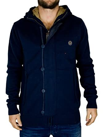 Duck and Cover - Classic Navy Hunt V2 Full Placket Knit - Mens - Size: L