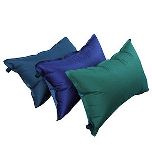 アウトドア や 車中泊 に 心地 良い エアー ピロー 空気 枕 携帯 に 便利 な 収納 袋 付き (1個)