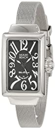 Glam Rock Miami Beach Art Deco collection MBD27056 Silver Steel Bracelet & Case Mineral Women's Watch