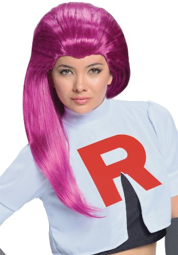 Pokémon Jessie Adult Wig Halloween Idea Red, One Size