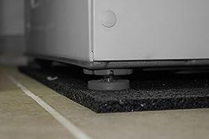 peha® Waschmaschinen/Trockner Unterlage / Matte / Schwingungsdämpfer 60x60x2 cm m.perfekter masch.Schnittkante
