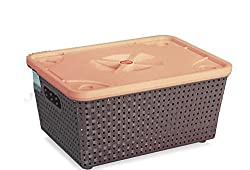 Combo of 3 Plastic Basket With Lid Nakoda Dune-222