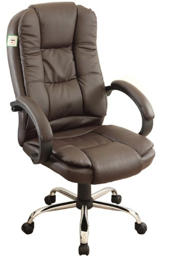 Executive Extra Padded High Back Brown Color Office Chair BN14