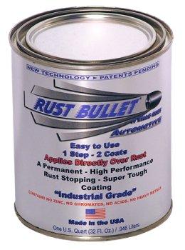 Quart - Rust Bullet Automotive Rust Protection Stop Rust Rust Inhibitor Coating Automotive Rust Paint