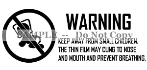 Suffocation Warning Label