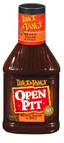Open Pit Thick and Tangy Brown Sugar and Spice BBQ Sauce, 18-Ounce (Pack of 6)