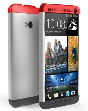 Double Dip Bumper Flip Shell Cover Case For HTC ONE Dual - Dual Sim 802D - Red/White/Gray + Free Shipping