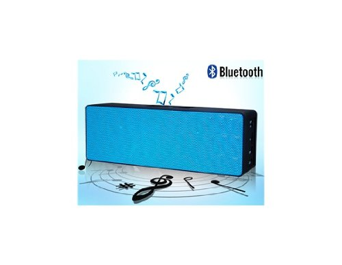 My Vision Mini Bluetooth 3.0 Stereo Speaker With Tf Reader & Audio Input (Blue)