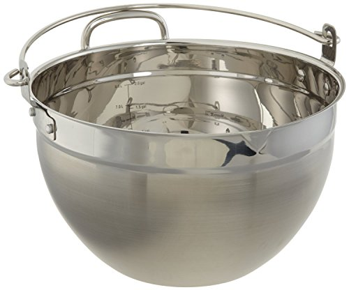 CucinaPro Stainless Steel Maslin Jam Pan - 9909, Dishwasher Safe, Pouring Spout, Black (Jam Pan Stainless Steel compare prices)