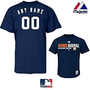 Customized Adult MLB Authentic Collection Houston Astros Major League Baseball Team... by Authentic Custom Team MLB Sports Shop