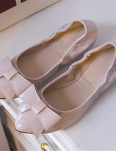 ZQ Da donna-Ballerine-Casual-Ballerina / A punta-Piatto-Vernice-Nero / Rosa / Rosso , red-us6 / eu36 / uk4 / cn36 , red-us6 / eu36 / uk4 / cn36