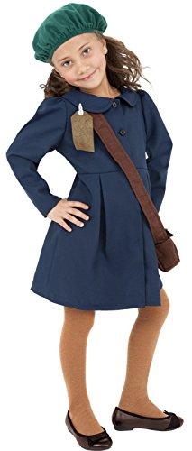 GameBoy Smiffy's Girls Fantasy WWII Evacuee Girl Costume 4-6Yrs