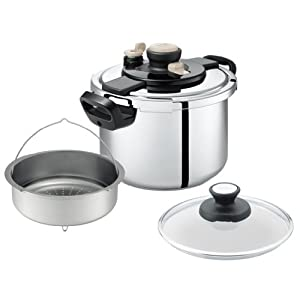 T-fal ワンタッチ開閉圧力なべ クリプソ クレールプラス 6L P4310732