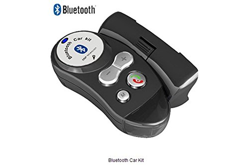 Bluetooth Car Kit,With Bluetooth Hand-Free/Speakerphone,Supports Iphone/Ipad/Htc/Samsung/Nokia/Other Cell Phones And All Enabled Bluetooth Devices(Gray)