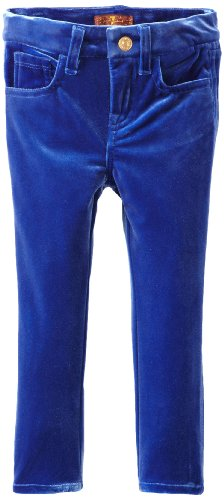 7 For All Mankind Little Girls' Toddler Skinny Pant, Sapphire, 2T front-435276