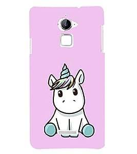 Cute Unicorn 3D Hard Polycarbonate Designer Back Case Cover for Coolpad Note 3 Lite :: Coolpad Note 3 Lite Dual SIM