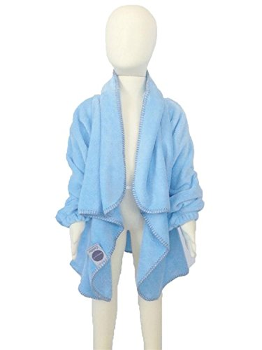 Babymoon: Cuddly Children'S Wearable Blanket W/Sleeves (Md/Lg Age 3+ / 40+ Lbs), Baby Blue front-28038