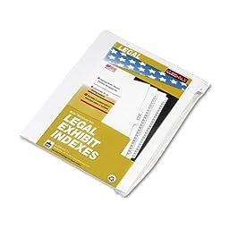 Kleer-Fax - 90000 Series Legal Exhibit Index Dividers, 1/26 Cut Tab, Title \