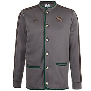 adidas Erwachsene Jacke FC Bayern München Auth Janker, Iron/Musbro/Dgreen, M, G92878
