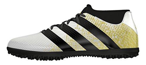 Adidas Ace 16.3 Prime AQ3432, Scarpe da Calcio Allenamento Uomo, Multicolore (Mesh Ftwwht/Goldmt/Cblack), 44 EU