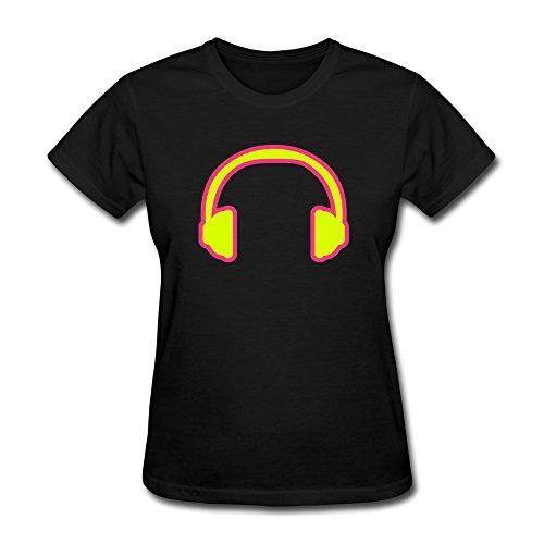 Ptcy Lady Tshirts Headphones Us Size M Black front-517841