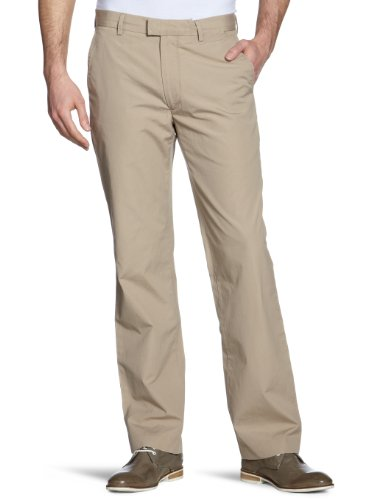 Dockers D1 Poplin - Pantaloni slim fit da uomo, colore beige (british khaki 0033), taglia 50 IT (36W/34L)