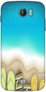 Snoogg Abstract Summer Background Designer Protective Back Case Cover For Micromax A110