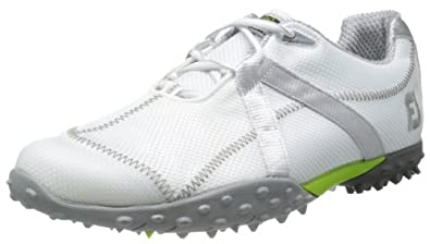 FootJoy 2013 M Project Mesh Spikeless Golf Shoes (Close Out) White-Silver 8.5 Wide M Project Mesh Spikeless 55221