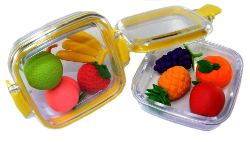 Japanese Erasers In A Mini Bento Box - Fruit Assortment - Iwako