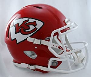 NFL Kansas City Chiefs Speed Authentic Football Helmet by Riddell