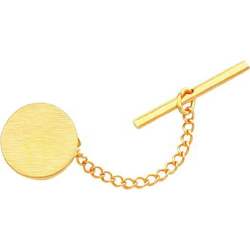 Gold Plated Round Tie Tac
