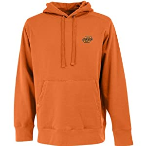 Oklahoma State Signature Hooded Sweatshirt (Team Color) by Antigua