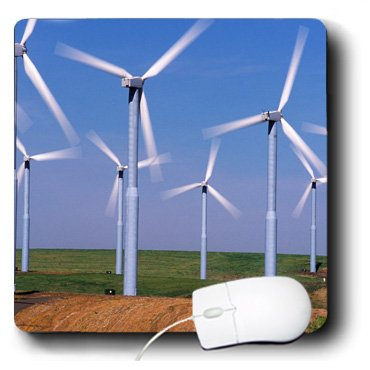 3Drose Llc 8 X 8 X 0.25 Inches Mouse Pad, Usa, Washington, Wind Turbines Energy, Charles Crust (Mp_95201_1)