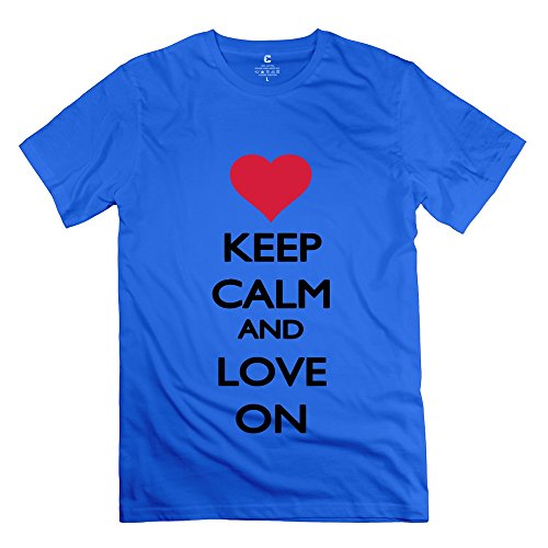Ruifeng Guy'S Keep Calm Love T-Shirt - Xs Royalblue