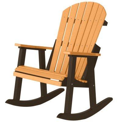 Check Today U0026 Read Reviews Before Buy. Berlin Gardens Comfo Back Resin  Adirondack Rocker   Cedar On Black