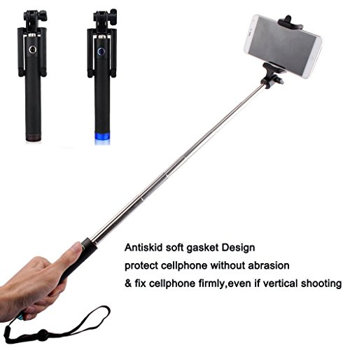 h c selfie stick for iphone 3 in 1 self portrait monopod extendable battery free with. Black Bedroom Furniture Sets. Home Design Ideas