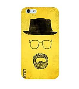 Omnam Yellow Back Ground With Mouth Sketch Printed Back Cover Case For Apple iPhone Plus