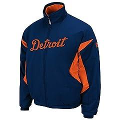 2013 Detroit Tigers Authentic Triple Peak Premier Road Jacket-Small by Detroit Athletic Co