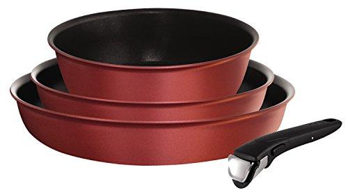 l6599002Pfannen Set und Schmorpfanne-Ingenio 5Performance rot Samt Set 4-teilig-für alle Herde, auch Induktionsherde