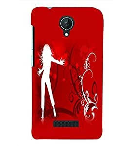 PRINTSWAG DANCING SHADOW Designer Back Cover Case for MICROMAX CANVAS SPARK Q380