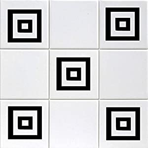 12 X Squares Tile Transfers To Fit 6 Inch Tiles Kitchen