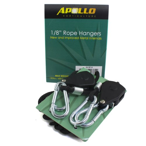 Apollo Horticulture GLRP 1/8 & 1/4 Adjustable Grow Light Rope Hanger w/ Improved Metal Internal Gears 2015 new circular 150w ufo led grow light greenhouse for indoor horticulture flowering lighting 3year warranty free shipping