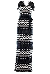 Jessica Simpson White Womens Chevron Maxi Sweater Dress