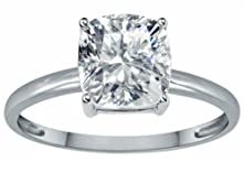 buy Tommaso Design White Topaz 7Mm Cushion-Cut Solitaire Engagement Ring 10K Size 8