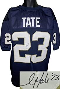 Golden Tate signed Notre Dame Fighting Irish Navy Prostyle Jersey- PSA Hologram
