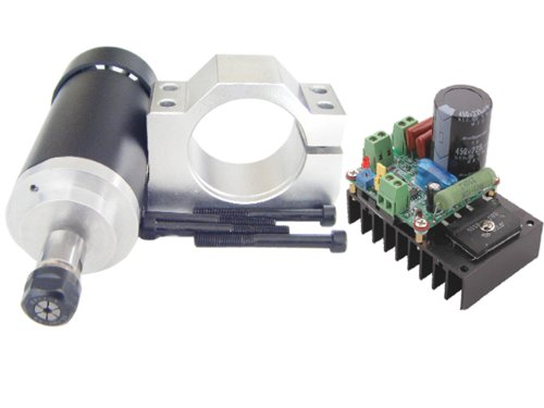 400w CNC Spindle Motor Kits PWM Speed Controller with Mount Bracket for Engraving Millin